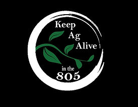 Keep Ag Alive in the 805 - Black Backgro
