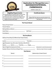 Quasquicentennial Farm & Ranch Applicati