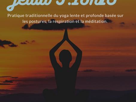 Hatha Yoga jeudi 9/10h15 Hotel Base Camp Lodge Bourg St Maurice
