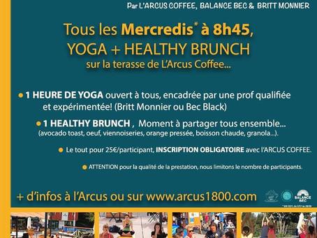 Yoga Brunch Arcus coffee Arc 1800 tous les mercredis de l'été 2021
