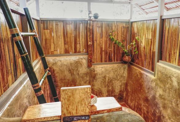 Bathroom Bamboo Shower