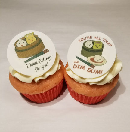 Edible Image Cupcake Toppers