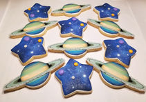 Space themed cookies