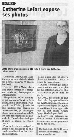 Article expo Mairie de Marly - 2019