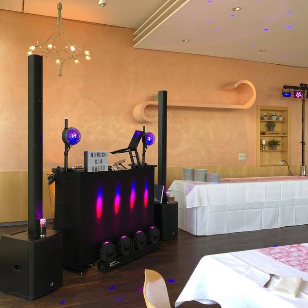 DJ Technik Aufbau für Geburtstag