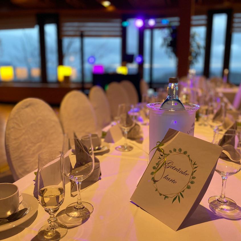 Die Tische im Panoramarestaurante Bastei