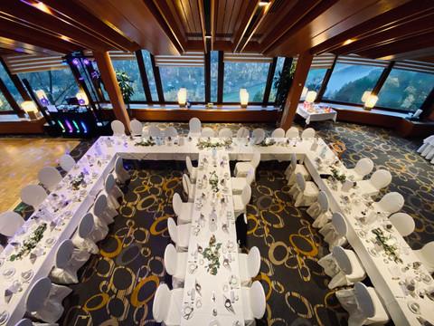 Hochzeitsfeier im Panoramarestaurant & Berghotel Bastei in Lohmen