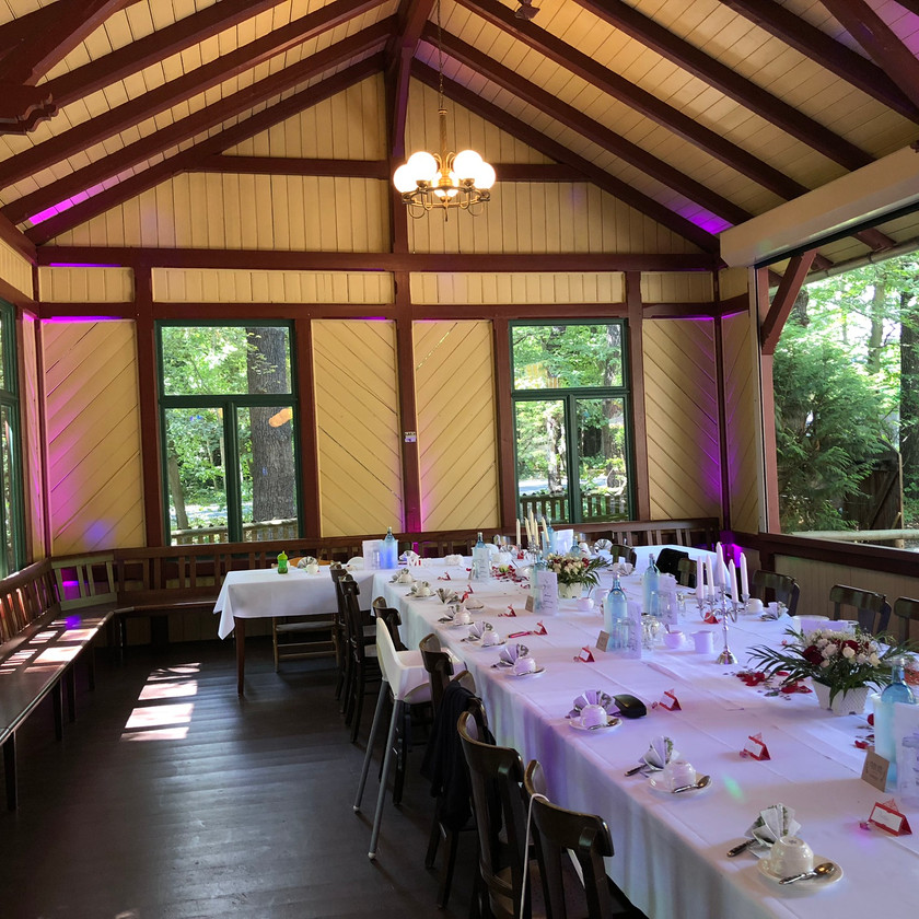 Das Gartenhaus für Hochzeiten im Fischhaus Dresden