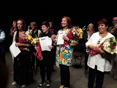María Calvo Alonso, Carme Rodríguez, Consuelo Díez, Clara Luquero. Segovia, 2019