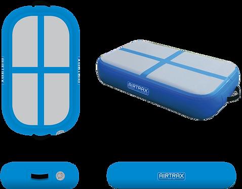 Airtrack Block 0,6m x 1m x 20cm – Airtrax Classic – šedá a nebesky modrá