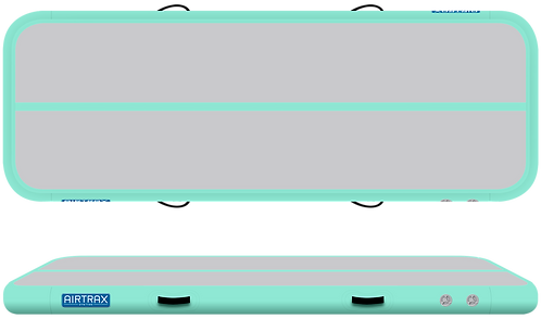 Airtrack 4m x 1m x 10cm – Airtrax Classic – šedá a mátová