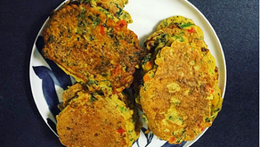 Chickpea Pancakes- A high protein nutritious breakfast, lunch or dinner.
