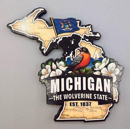 Magnet - Michigan Symbols