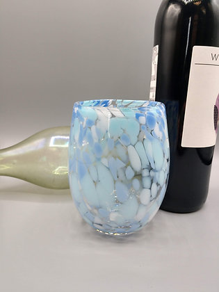 Shades of Blue Wine Glass