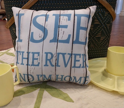 I See the River Pillow