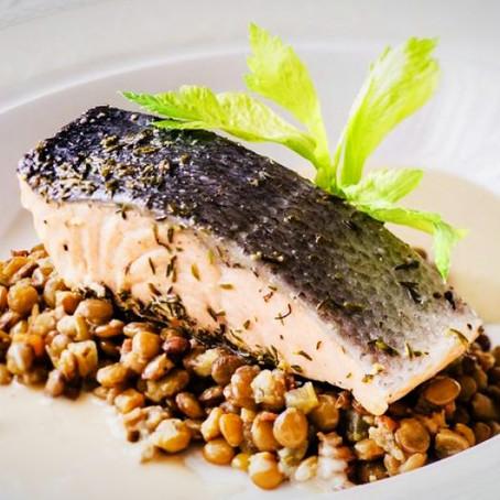 La recette du jour : dos de saumon aux lentilles