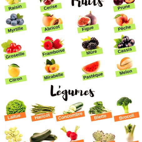 Fruits et légumes de juillet !