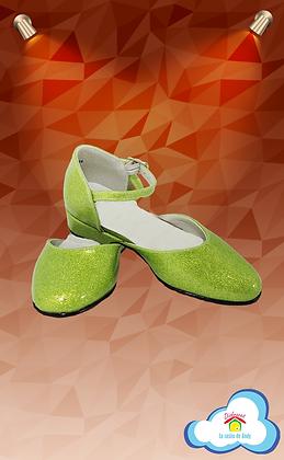 Zapatilla verde limón