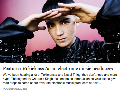 SoulMatter's Gerald Ang listed on Pulse Radio's 10 'kick ass' Asian electronic music