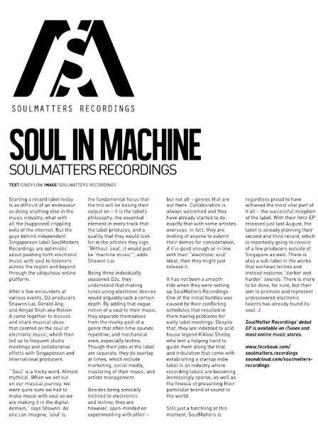 Soul in Machine - Juice Magazine, MY