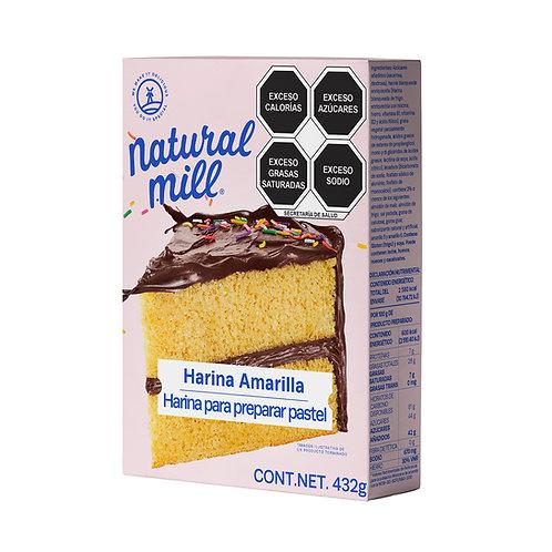Harina amarilla para preparar pastel