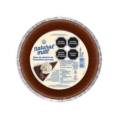 Base de galleta para pay - Sabor Chocolate