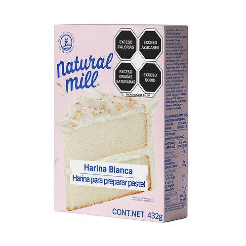 Harina blanca para preparar pastel