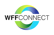 Green, yellow, and blue WFF logo