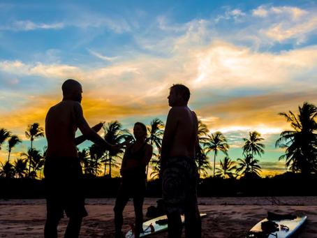 Aulas de Surf na Praia de Algodões.