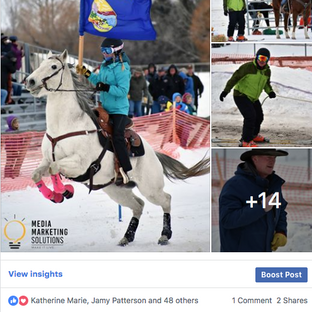 Last Chance Skijoring  Race for the Gold