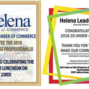 Helena IR AD for 20 Under 40