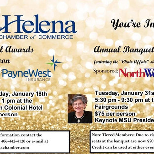Helena Chamber 2017 Banquet and Luncheon Invite