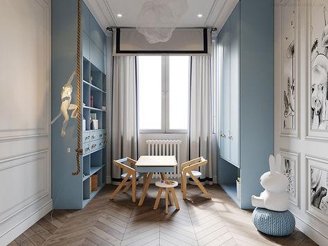 дизайн-проект современная класика, молдинги в интерьере, детская комната в стиле современной класики, какой дизайн от застройщика