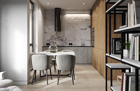 ЖК ЦЕНТРАЛЬНЫЙ, как сделать из двушки трешку, как сделать из трешки четыре комнаты, дизайн-проект большой квартиры, мрамор и дерево в интерьере