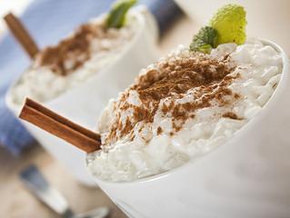 Arroz con leche de coco, postre cubano