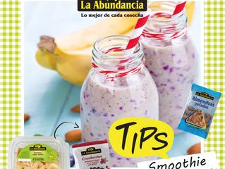 Smoothie: Banana + almendras + cranberries