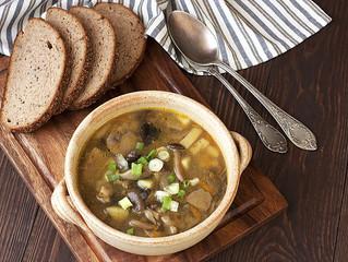 Sopa de Shiitake y pollo