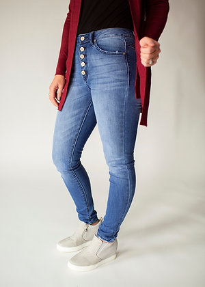 Button Fly medium wash KanCan jeans