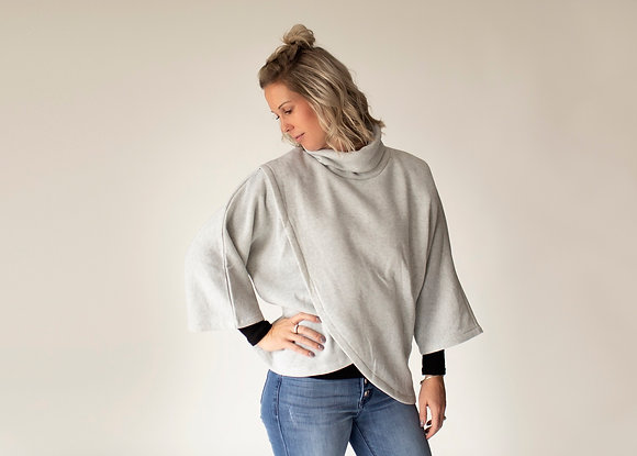Ruby Cowlneck Cape