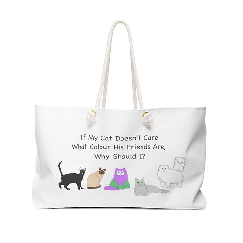 'Colour of My Friends Felines' Weekender Bag