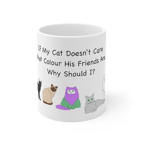 'Colour of My Friends Felines' Mug 11oz