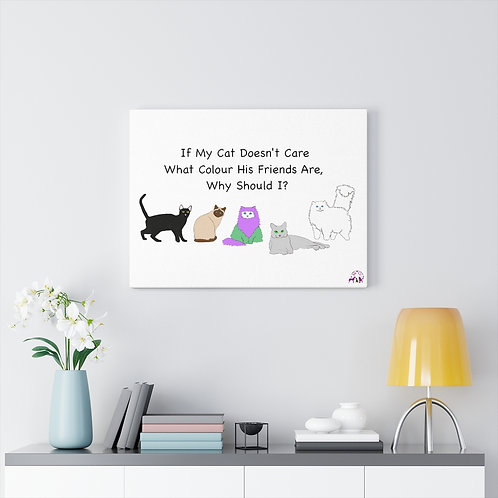 'Colour of My Friends Felines' Canvas Gallery Wraps