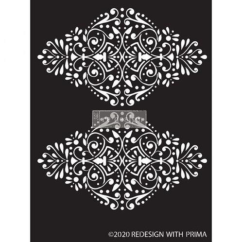 Redesign Decor Stencil: Dotted Flourish