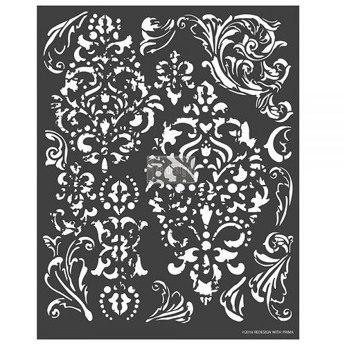 Redesign 3D Decor Stencil - Distress Florish
