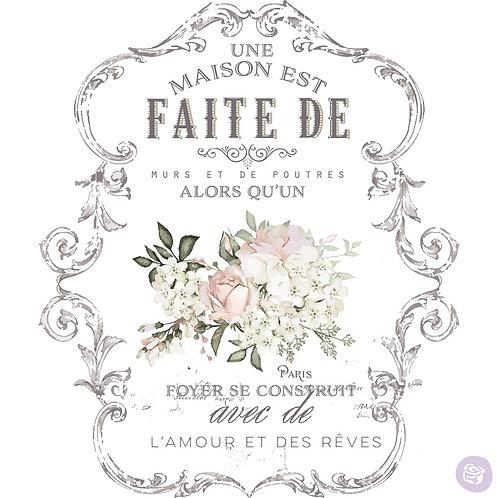 Redesign Decor Transfer - L'amour Et Des Reves 26.5x36.2