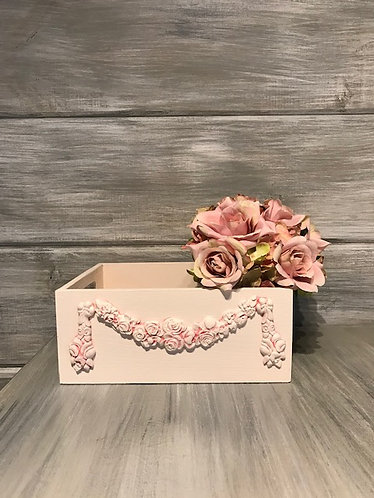 Swag of Roses Wood Box