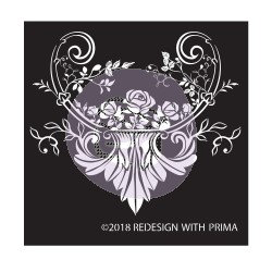 Redesign Adhesive Silk Screen Stencil - Provence Rose