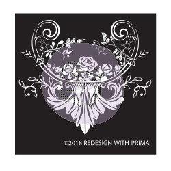Adhesive Silk Screen Stencil - Provence Rose