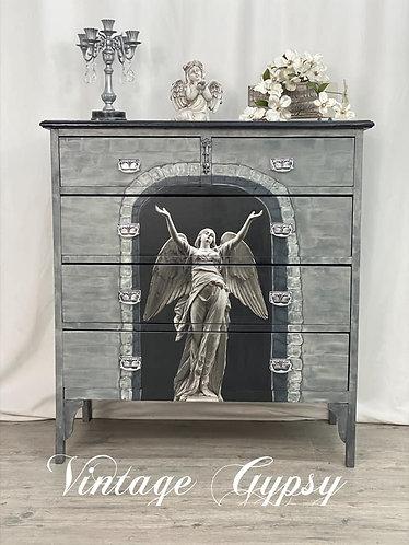 Vintage Dresser - Brick Angel
