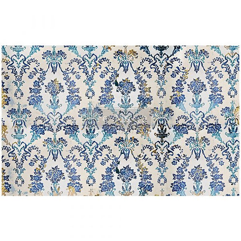 Decoupage Tissue Paper - Cobalt Flourish